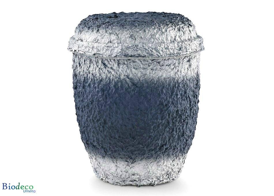 De biologisch afbreekbare zee-urn Marineblauw Zilver geproduceerd van cellulose, voor een asbijzetting op zee