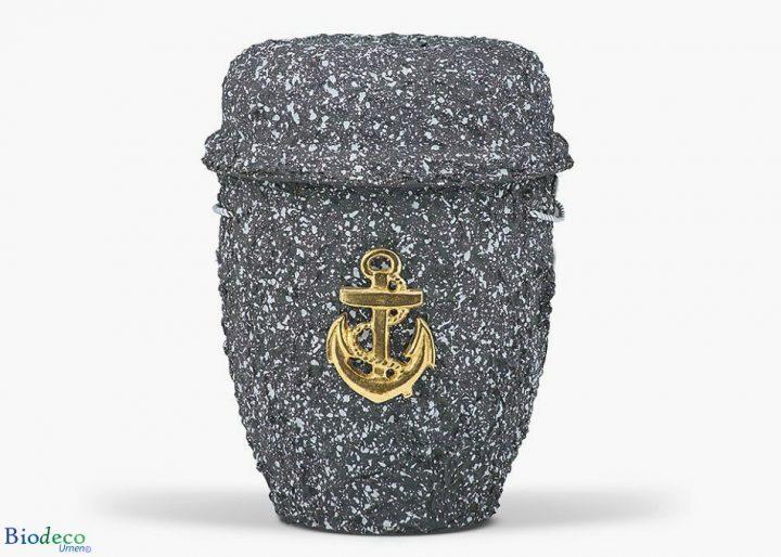 De biologisch afbreekbare zee-urn Graniet geproduceerd van cellulose, voor een asbijzetting in het water